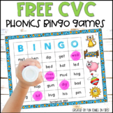 Short Vowel BINGO Games | CVC Words | FREE