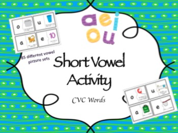 Short Vowel Literacy Center CVC Words