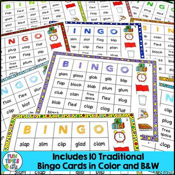 """Short Vowels Game: """"L"""" Blends BINGO"""