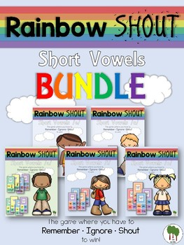 Short Vowels Game - Rainbow Shout - BUNDLE