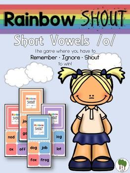 Short Vowels Game - Rainbow Shout - Short o