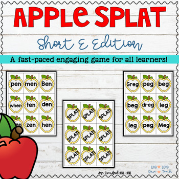 Short Vowels Game - Short E Apple SPLAT