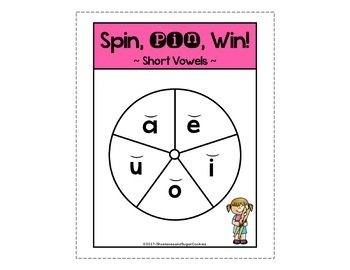 Short Vowels Game ~ Spin, Pin, Win!