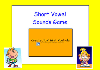 Short Vowels Game with CVC Words