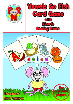 SHORT VOWELS Go Fish Card Game - fun way to learn short vowel letter sounds