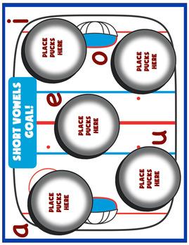 Short Vowels - Goal! Hockey Themed Activity