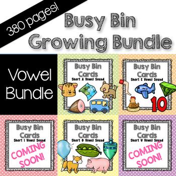 Short Vowels Growing Bundle Busy Bin, Exit Ticket, journals
