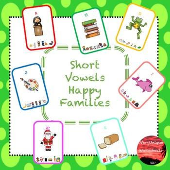 Short Vowels Happy Families