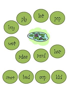 Short Vowels Hopping Frog Game