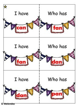 Short Vowels I have, Who has