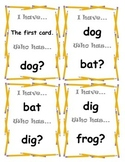 Short Vowels - I have, Who has Game Cards