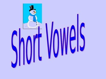 Short Vowels Interactive Game