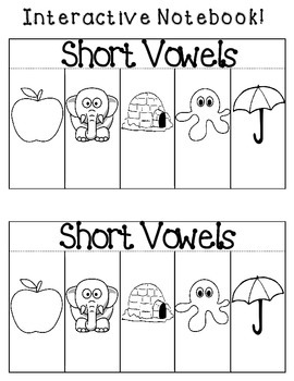 Short Vowels Interactive Notebook {FREE}