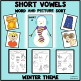 Short Vowels - Letters and Picture Sort - Winter Theme