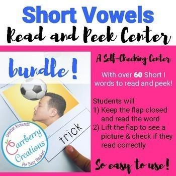Reading Fluency with Short Vowels Center BUNDLE
