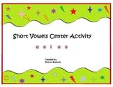 Short Vowels Literacy Center Kinesthetic Activity