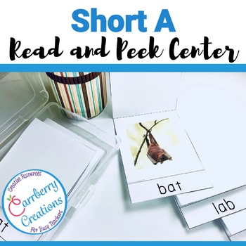 FREE Short Vowels Literacy Center with Short A words