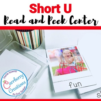 Short Vowels Literacy Center with Short U words
