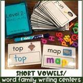 Short Vowels Literacy/ Writing Centers for Special Ed, Pre-K or Kinder