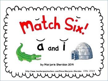 Short Vowels Match Six Games