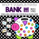 Short Vowels CVC Mixed Decoding Words Bank It Digital Projectable Game