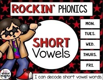 Short Vowels Mixed Rockin' Phonics