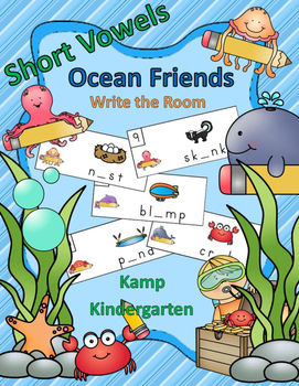 Short Vowels Ocean Friends Write the Room