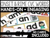 Short Vowels Onset and Rime CVC Cards