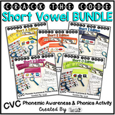 Short Vowels Phonemic Awareness & Phonics Activity BUNDLE - Crack the Code