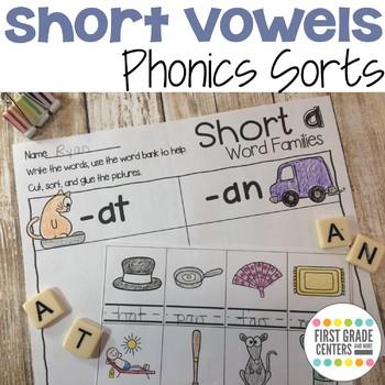 Short Vowels Phonics Sorts