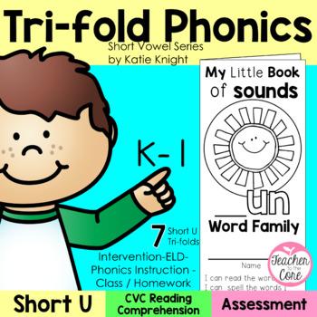 Short Vowels Phonics Tri-Folds -Short U