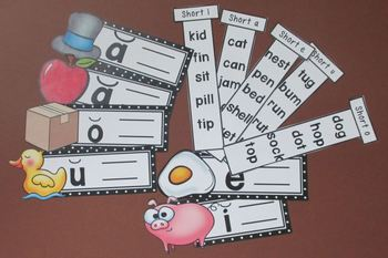Short Vowels Picture Sliders Set