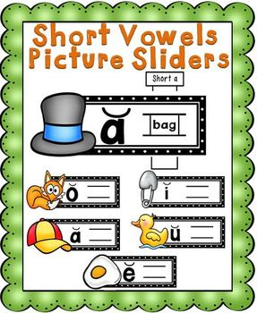Short Vowels Picture Sliders Set