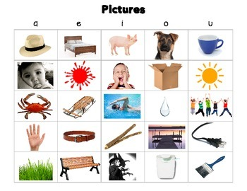 Short Vowels:  Picture and Word Sorts