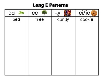 Long E: Picture and Word Sorts