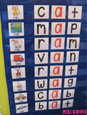Short Vowels Pocket Chart Centers and Materials (CVC Words