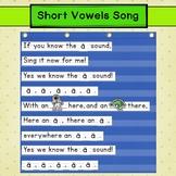 Short Vowels Pocket Chart Song ~*FREEBIE*~ Carpet Time Activity