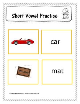 Phonological Awareness:  Short Vowel 'A' – CVC Word Activities