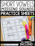 Short Vowels Practice Sheets: Missing Sounds