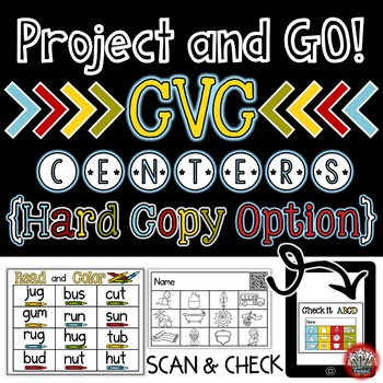 Short Vowels: Read and Color with QR CODE Option