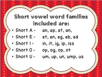 Short Vowels Literacy Center