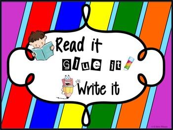 Short Vowels Read it Glue it Write it