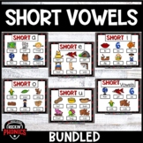 Short Vowel Word Work Distance Learning