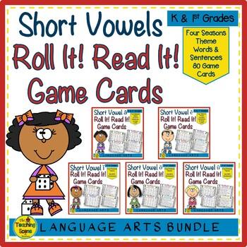 Short Vowels Roll It! Read It!  ă, ĕ, ĭ, ŏ, ŭ Bundle Games