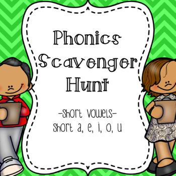 Short Vowels Scavenger Hunt