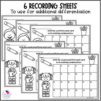 Short Vowel Write the Room Activity