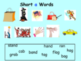Short Vowels Smart Notebook Pic/ Word Match
