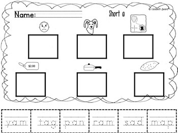 Short Vowels Spelling and Picture Sort