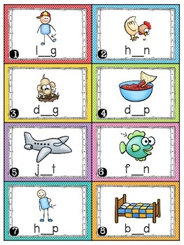 Short Vowels Task Cards