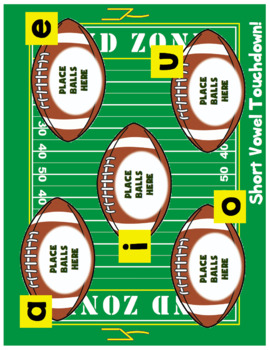 Short Vowels - Touchdown! A Football Themed Activity